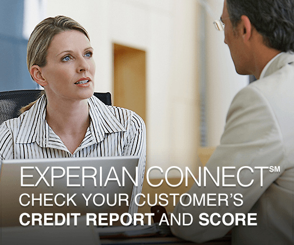 Know Your Customer by checking your customer's credit history